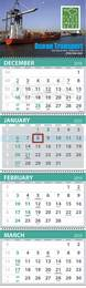 4-Month View Promotional Commercial Calendar
