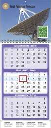 3-Month View Executive Commercial Calendar w Drop Ad