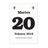 Daily Date Calendar Refill Spanish 23