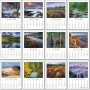 Full Color Adhesive Mini Scenic Calendar monthly images